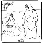 Disegni biblici da colorare - Gesù guarisce