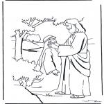 Disegni biblici da colorare - Gesù guarisce un sordo