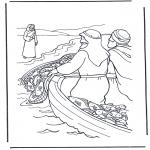 Disegni biblici da colorare - Gesù in riva allacqua