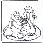 Disegni biblici da colorare - Gesù nel mangiatoio