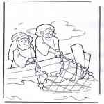 Disegni biblici da colorare - Gesù nella barca