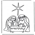 Disegni biblici da colorare - Gesù nella mangiatoia