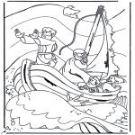 Disegni biblici da colorare - Gesù sul lago