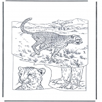 Disegni da colorare Animali - Ghepardo