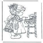 Disegni da colorare Vari temi - Gioca con la bambola