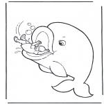 Disegni biblici da colorare - Giona e la balena