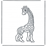 Disegni da colorare Animali - Giraffa 2