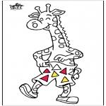Disegni da colorare Animali - Giraffa 5