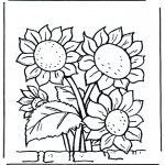 Disegni da colorare Vari temi - Girasoli