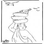 Disegni biblici da colorare - Giuseppe col panettiere