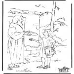 Disegni biblici da colorare - Giuseppe porta da mangiare