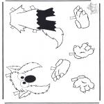 Disegni per i piccini - Gli abiti di Elmo 2