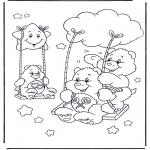 Disegni per i piccini - Gli orsetti del cuore 13