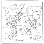 Disegni per i piccini - Gli orsetti del cuore 15