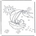 Disegni per i piccini - Gli orsetti del cuore 2