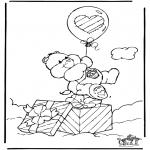 Disegni per i piccini - Gli orsetti del cuore 5