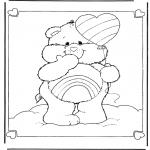 Disegni per i piccini - Gli orsetti del cuore 6