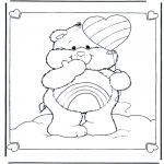Disegni per i piccini - Gli orsetti del cuore 7