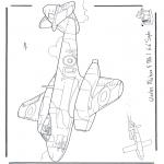 Disegni da colorare Vari temi - Gloster Meteor