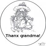 Disegni da colorare Temi - Grazie nonna