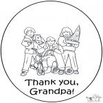 Disegni da colorare Temi - Grazie nonno