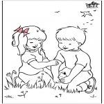 Disegni da colorare Vari temi - Ha cominciato la primavera 2