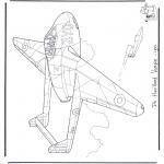 Disegni da colorare Vari temi - Havilland Vampire