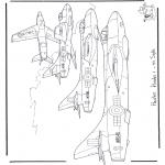 Disegni da colorare Vari temi - Hawker Hunter
