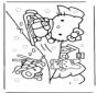 Hello Kitty nella neve