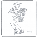 Disegni da colorare Vari temi - Hermes