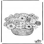 Disegni da colorare Vari temi - I fiori 1