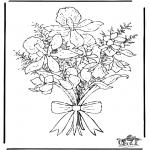 Disegni da colorare Vari temi - I fiori 2