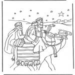 Disegni biblici da colorare - I Magi doriente 1