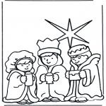 Disegni biblici da colorare - I Magi doriente 2
