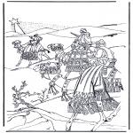 Disegni biblici da colorare - I santi magi 1
