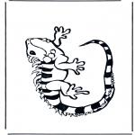 Disegni da colorare Animali - Iguana
