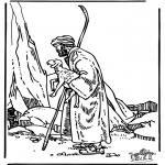 Disegni biblici da colorare - Il buon pastore 3