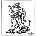 Disegni biblici da colorare - Il buon pastore 4