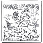 Disegni biblici da colorare - Il buon Samaritano 1