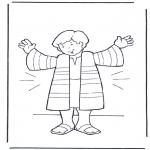 Disegni biblici da colorare - Il cappotto di Giuseppe