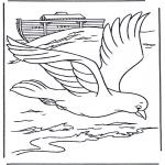 Disegni biblici da colorare - Il colombo dellarca di Noè