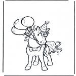 Disegni da colorare Animali - Il compleanno del cavallo