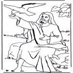 Disegni biblici da colorare - Il corvo di Elia