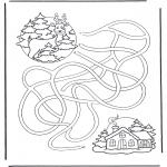 Disegni da colorare Inverno - Il labirinto del cervo