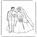 Disegni da colorare Temi - Il matrimonio 1