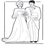 Disegni da colorare Temi - Il matrimonio