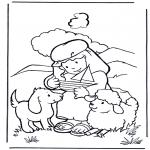 Disegni biblici da colorare - Il pastore Davide