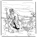 Disegni biblici da colorare - Il pastore