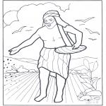 Disegni biblici da colorare - Il seminatore uscì a seminare
