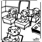 Disegni per i piccini - In classe 2